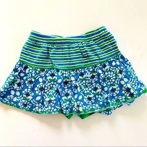 Hanna Andersson Green and Blue Skort